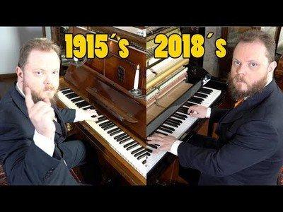 Diferencias de sonido entre pianos de 1915 y uno de 2018