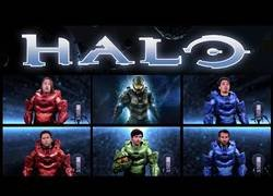 Enlace a El genial tema de Halo interpretado por los chicos de The Warp Zone a capella