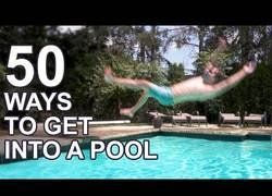 Enlace a 50 formas diferentes de entrar a una piscina