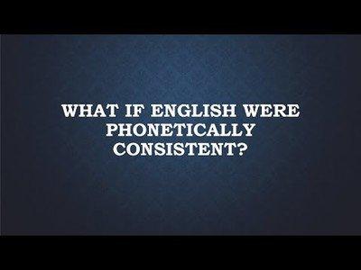 Así sonaría el inglés si fuese fonéticamente consistente