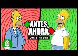 Enlace a Antes y Ahora de Los Simpson
