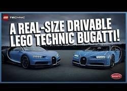Enlace a Fabrican un Bugatti Chiron en escala real con piezas de LEGO totalmente funcional