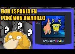 Enlace a Bob Esponja en Pokémon Amarillo