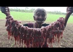 Enlace a Abuela de 105 años cocinando una deliciosa receta de codornices