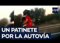 Enlace a Patinete por la autovía