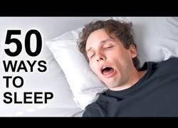 Enlace a 50 formas diferentes en las que podemos dormir