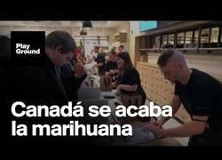 Enlace a Se agota la marihuana en Canadá