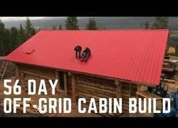 Enlace a Time-lapse de la construcción de una casa de madera en 56 días