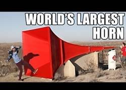 Enlace a Fabrican el cuerno más grande del mundo, el sonido es ensordecedor