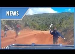 Enlace a Pareja americana escapa por los pelos de asaltantes de caminos con machete