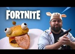 Enlace a Fortnite burger en la vida real