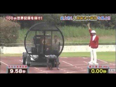 Hombre corre 100 menos en menos de diez segundos gracias a unos ventiladores