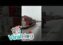Enlace a Accidente en directo debido al hielo