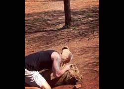 Enlace a Estrecha relación de amistad entre este hombre y un león