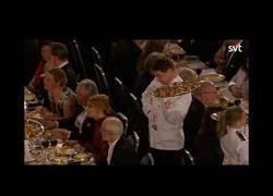 Enlace a Escena sacada de Mr Bean durante la entrega de los premio Nobel