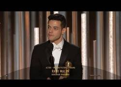 Enlace a Discurso de Rami Malek en los Globos de Oro [Inglés]