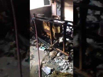Importancia de cerrar una puerta en un incendio incendio de Badalona