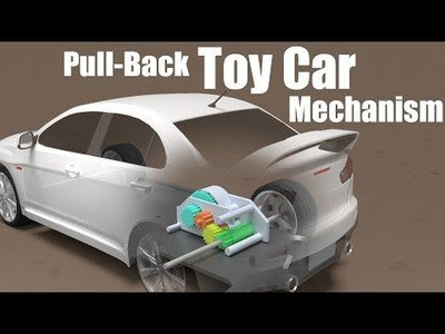 Así funcionan los coches de juguete para que arranquen al hacerlos tirar hacia atrás