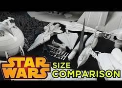 Enlace a Comparan en diez minutos todos los tamaños de todos los objetos aparecidos en Star Wars