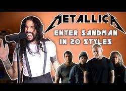 Enlace a Interpreta la canción 'Enter Sandman' de Metallica en 20 estilos diferentes y el resultaod es increíble