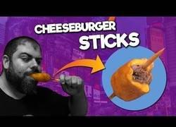 Enlace a Hamburguesa con queso en palito