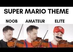 Enlace a Pasándose un nivel de Super Mario tocados en violín