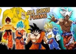 Enlace a Todas las evoluciones de Goku
