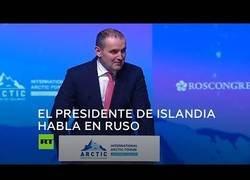 Enlace a El presidente de Islandia exhibe su dominio del ruso