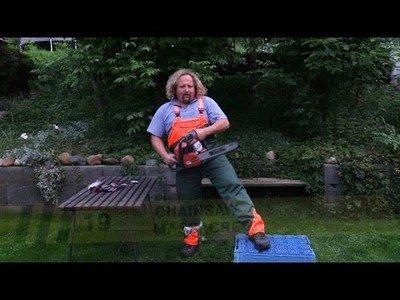 Los pantalones inventados para evitar que te cortes la pierna con una motosierra