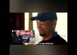 Enlace a Cuando Tiger Woods vio un vídeo recopilatorio de gente dándole por acabado