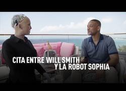 Enlace a Cita entre Will Smith y la robot Sophia