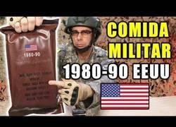 Enlace a Probando comida militar de 1980 a los 1990 de Estados Unidos