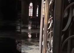 Enlace a Así lucía Notre Dame el día después del incendio en su interior