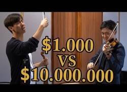 Enlace a Probando la diferencia de sonido entre un violín de 1000$ y otro de 10.000.000$