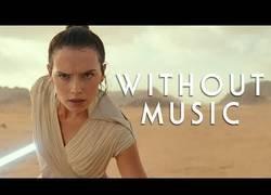 Enlace a El tráiler de Star Wars IX sin música de fondo