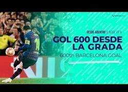 Enlace a Así se vio el gol 600 de Messi desde las gradas