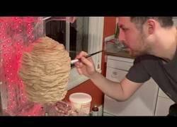 Enlace a Preparando una tarta de cumpleaños en forma de kebab