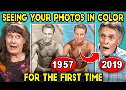 Enlace a Personas mayores reaccionan a sus fotos de juventud coloreadas