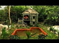 Enlace a La maravillosa casa construída desde 0 en mitad de la selva con materiales de la naturaleza