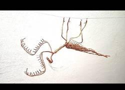 Enlace a Mantis religiosa hecha con hilo de cobre