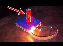 Enlace a Experimento, 3000 fósforos vs lata de Coca Cola