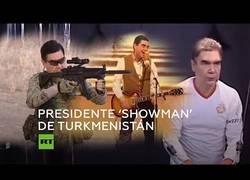 Enlace a El presidente de Turkmenistán es todo un showman