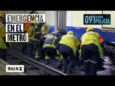 Así es el protocolo para rescatar a un hombre que ha intentado suicidarse en el metro de Madrid