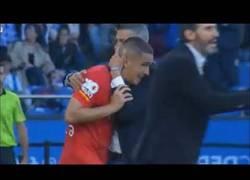 Enlace a Entrada de Marc Pedraza a Alex Bergantiños Tarjeta Roja (Deportivo Coruña 2-0 Mallorca)