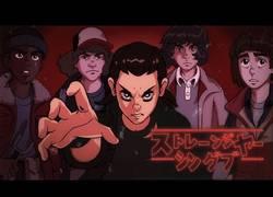 Enlace a Si ''Stranger Things'' fuese un anime de los años 80