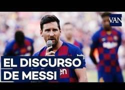 Enlace a El gran mensaje de Messi en el Gamper que ha emocionado a todos los culés