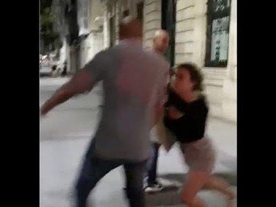 Una chica agrede a dos hombres en Santander