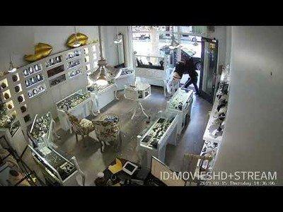 Un robo super fail en una joyería de Santa Mónica, CA