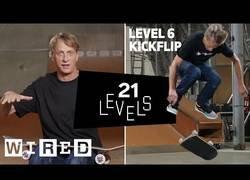 Enlace a 21 niveles de skate por Tony Hawk