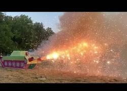 Enlace a Un tanque de fuegos artificiales